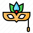 birthday, carnaval, face, mask, party icon