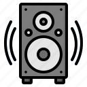 audio, loudspeaker, music, sound, speaker icon
