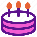 birthday, cake, holiday, kid, party icon
