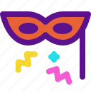 eyemask, holiday, kid, party icon