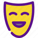 holiday, kid, mask, party icon