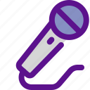 holiday, kid, mic, party icon