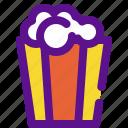 holiday, kid, party, popcorn icon