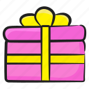 birthday gift, gift, gift box, present, surprise, wrapped gift icon