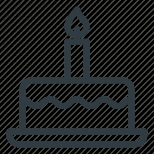 Cake, dessert, birthday, celebration, party icon