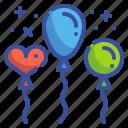 balloon, birthday, celebration, newyear, party