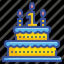 bakery, birthday, cake, dessert, party icon