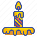 birthday, candle, celebration, light, party icon