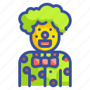 birthday, carnival, clown, joker, party icon