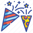 celebration, entertainment, birthday, party, confetti icon