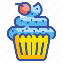 bakery, cupcake, dessert, muffin, sweet icon