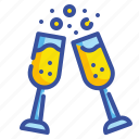birthday, celebration, cheers, drink, party icon