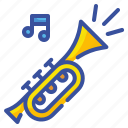 birthday, horn, music, party, trumpet icon