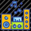 amplifier, audio, music, sound, speaker icon