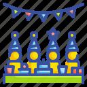 birthday, celebration, fun, garlands, party icon