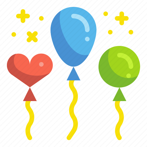 balloon, birthday, celebration, newyear, party icon
