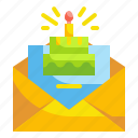 birthday, card, celebration, greeting, party icon