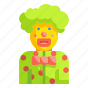 birthday, carnival, clown, joker, party icon