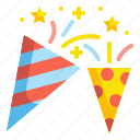 birthday, celebration, confetti, entertainment, party icon
