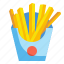 fastfood, frenchfries, fries, junkfood, potatoes icon