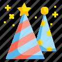 birthday, celebration, fun, hat, party icon