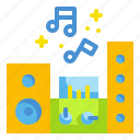 amplifier, audio, music, sound, speaker icon