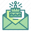 birthday, card, celebration, greeting, party icon