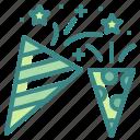 birthday, celebration, confetti, entertainment, party icon