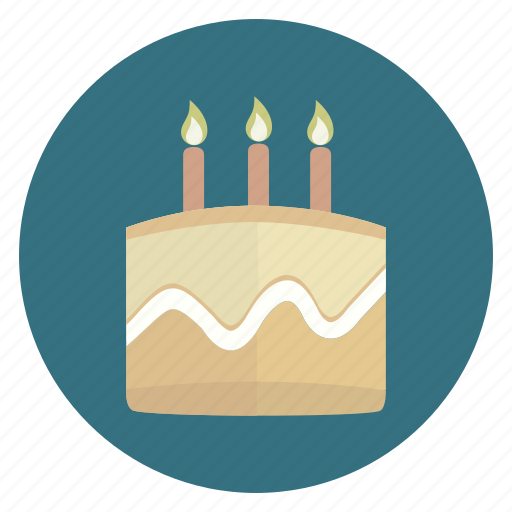 birthday, cake, candles, party icon
