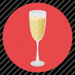 champaign, romance, wine icon
