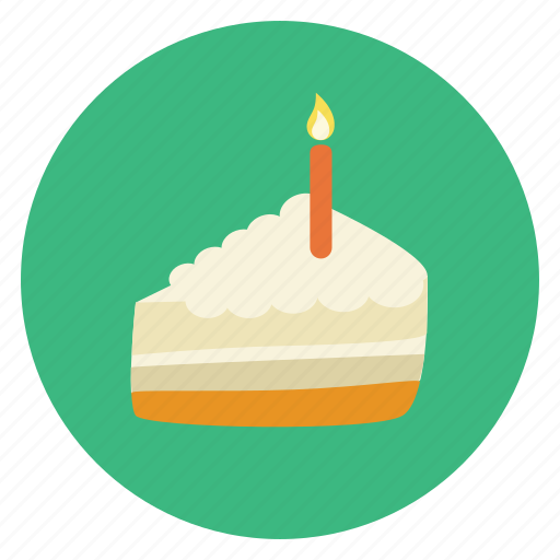 birthday, cake, candle, party icon