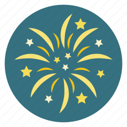 fireworks, party icon