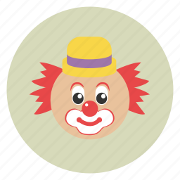 clown, funny, laugh, party icon