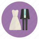 bride, couple, groom, marriage, wedding icon