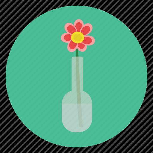 flower, romance, vase icon