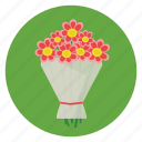 romance, wrapped, flower, love, gift icon