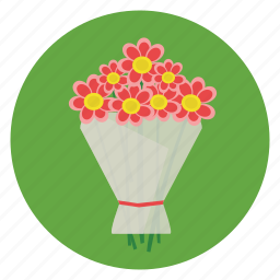 flower, gift, love, romance, wrapped icon