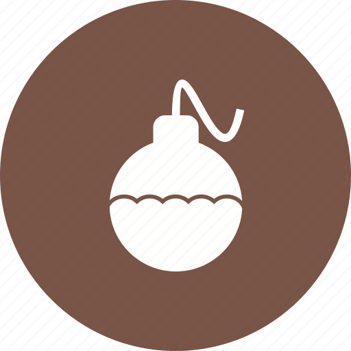 ball, birthday, card, celebration, decoration, ornament, red icon