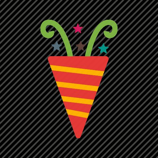birthday, celebration, cracker, fiesta, firecracker, party, popper icon