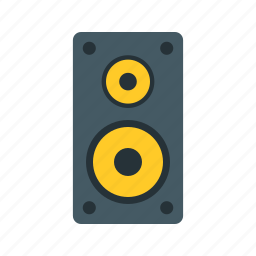 audio, loud, music, sound, speaker, stereo, technology icon