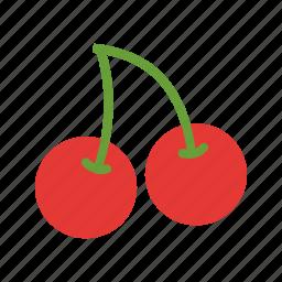birthday, celebration, cherries, eat, fresh, fruit, natural icon