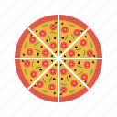 birthday, celebration, cheese, fast food, food, pizza, snack icon