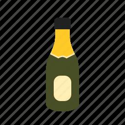 alcohol, birthday, bottle, celebration, champagne, splashing, wine icon