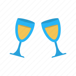 alcohol, birthday, celebration, champagne, glass, splashing, wine icon