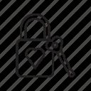 lock, locks, love, lovers, padlock icon