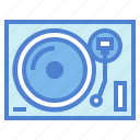 music, player, record, technology, turntable, vinyl icon