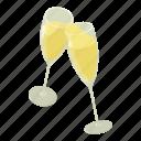 alcohol, ampagne, champagne, chglass, glass, isometric, object