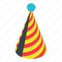 birthday, cap, carnival, hat, isometric, object, party icon