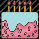 cake, bakery, dessert, birthday, celebration