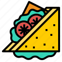 bread, sandwich, tomato icon